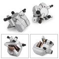 Front Brake Caliper Set For Arctic Cat D3406-023 D3406-030 DVX 400 DVX 04-08 Silver