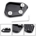Kickstand Side Stand Extension Enlarger Pad For Honda CBR250RR 17-18 Black
