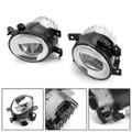 Front Bumper LED Fog Light Kit For Q50 14-18 QX60 QX80 Q70/Q70L/Q70 15-17 Black