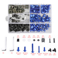 Fairing Bolt Kit Bodywork Screws for Hodnda CBR1000RR CBR1100XX CBR125R CBR250R CBR600F CBR600F2 F3 F4 F4i CBR600RR Interceptor 750 NC700X Shadow ST1300 V45 Sabre Blue
