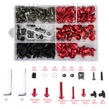 Fairing Bolt Kit Bodywork Screws for Ducati 1098 1198 S 1199 748 749 750 848 900 916 996 998 999 Monster 1100 400 600 695 Multistrada 1000 Streetfighter 848 RED