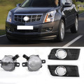 Front Bumper Fog Lamps Driving Lights+ Covers For Cadillac SRX 10-16 Black