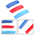 3PCS M Color Kidney Grille Bar Cover Decal Stripe Clips For BMW X3 07-10