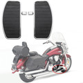 Front Rear Footboards Floorboard For most motorcycles Black