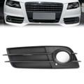 Left Front S-Line Bumper Fog Light Grille For Audi A4 S-LINE S4 08-12 Black