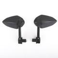 "Sportbike 7/8"" Handle Bar End Mirrors Universal Black"