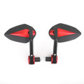 "Sportbike 7/8"" Handle Bar End Mirrors Universal Red"