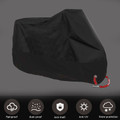 L Size Bike Motorcycle Cover Waterproof Scooter Outdoor Rain Protector Black