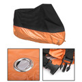 "XXL 96"" Motorcycle Rain Cover Waterproof UV For Dyna Electra Glide Black Orange"