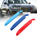 3D M Color Grille Trim Strips Grill Cover Stickers For BMW X7 G07 19 Black