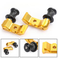 CNC Chain Adjuster Block W/Swingarm Spools Slider For YAMAHA MT-07 FZ-07 14-18 Gold