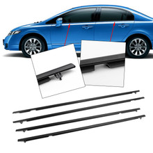 New 4X OUTSIDE WEATHERSTRIP WINDOW MOULDING TRIMS FOR ACCORD 08-12