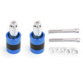 "Anti Vibration 7/8"" 22mm Handle Bar End Cap M6 / M8 Weight Slider Reducing Blue"