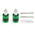 "7/8"" 22mm Handle Bar Ends Heavy Weight Vibration Reducing Plugs Set - 210g Green"