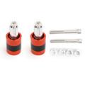 "Anti Vibration 7/8"" 22mm Handle Bar End Cap M6 / M8 Weight Slider Reducing Orange"