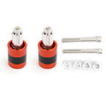 """7/8"""" 22mm Handle Bar Ends Heavy Weight Vibration Reducing Plugs Set - 210g Red"""