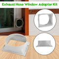 Exhaust Hose Window Adaptor For Portable Air Conditioner Tube Oblong Connector