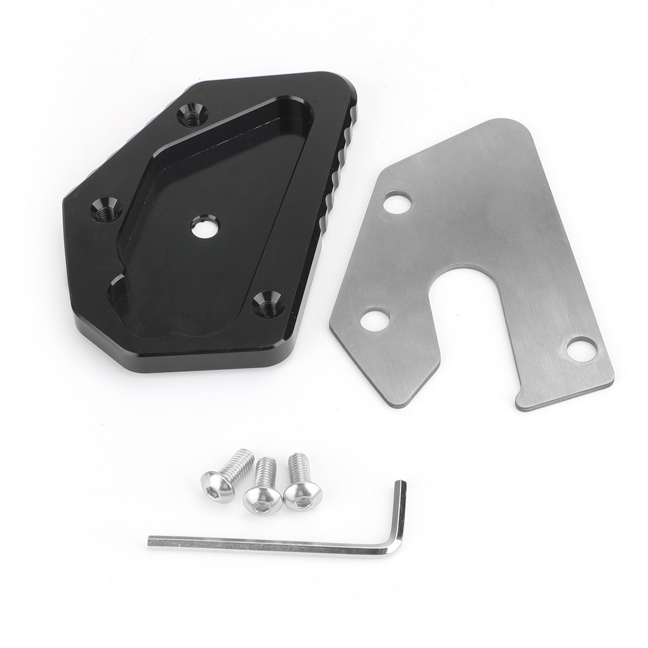 Mad Hornets CNC Kickstand Side Stand Plate Extension Pad For SUZUKI DL650 V-STROM 650 12-19