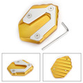 CNC Side Stand Kickstand Pad Extension Plate For Yamaha MT-07 FZ-07 2018 Gold