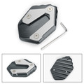 CNC Side Stand Kickstand Pad Extension Plate For Yamaha MT-07 FZ-07 2018 Titanium