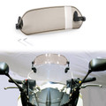 Moto Clip-on Windshield Windscreen Extension Wind Deflector Universal Fit Smoke
