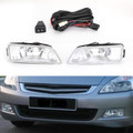 2X Clear Fog Lights w/Wiring+Switch For 03-07 Honda Accord 4DR 04-08 Acura TL Clear