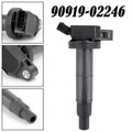 Ignition Coil For Toyota Camry 04-06 Highlander 04-07 Hybrid 06-10 Sienna 04-06 Solara 04-08 Black