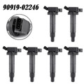 6PCS Ignition Coil For Toyota Camry 04-06 Highlander 04-07 Hybrid 06-10 Sienna 04-06 Solara 04-08