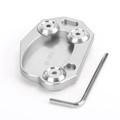 Kickstand Sidestand Extension Foot Plate Pad For Kawasaki Z1000 10-18 ER6N/ER6F 06-15 ZX10R 08-15 ZX6R 09-15 Silver