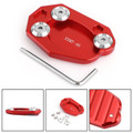 Kickstand Sidestand Extension Foot Plate Pad For Kawasaki Z1000 10-18 ER6N/ER6F 06-15 ZX10R 08-15 ZX6R 09-15 Red