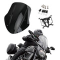 ABS Plastic Windshield Windscreen For Ducati Diavel 14-18 Black