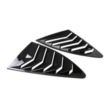 Side Window Louver For Scion FRS Subaru BRZ Toyota 86 GT86 AE86 13-18 GlossBlack