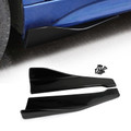 2pcs 48cm Skirt Spoiler Rear Lip Extension Rocker Splitters Winglet Wings Black