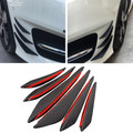 6pcs Bumper Canards Fin Wing Diffuser Trim Mods Faux Carbon Fiber