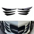 6pcs Bumper Canards Fin Wing Diffuser Trim Mods Gloss Black
