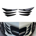 6pcs Bumper Canards Fin Wing Diffuser Trim Mods Gloss Black