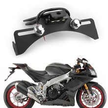 Rear License Plate Mount Holder For Aprilia RSV4 R RF RR RSV4 Factory 09-19 Aprilia Tuono V4 V4 R V4 Factory RS4 125 RS4 50 11-19 Black
