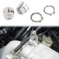 Billet Aluminum Throttle Bushing For BMW M3 M5 325 328 525 528 535 735 90-99 with M20 M30 S52 or M50 motorM20 m30 m50 m52 m60 m62 s14 Silver