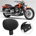 Driver Backrest Leather Cushion Pad For Yamaha V-Star 650 XVS650 XVS400 96-97