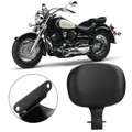 Driver Backrest Leather Cushion Pad For Yamaha V Star 1100 XVS 1100 Drag Star Black