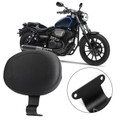 Driver Backrest Leather Cushion Pad Fit for Yamaha Bolt XVS950 Spec XVS950 C Spec Black