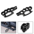 Aluminum Control Foot Peg Footpegs For Sportster Iron 883 XL 883 1200 Softail Black