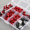 158pcs Fairing Bolt Windshield Screw Clip Fastener METRIC Universal Fit Red