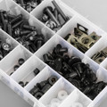 223pcs Fairing Bolt Windscreen Screw Clip Fastener METRIC Universal Fit Black