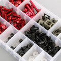 223pcs Fairing Bolt Windscreen Screw Clip Fastener METRIC Universal Fit Red