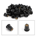 50 Quantity 10-32 M5 Rubber Well Nut Windscreen & Fairing 3/8 Wellnuts-5mm