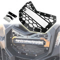 "Front 10.5"" LED Light Bar Grill For Can Am Maverrick X3 Models 16-19 Black"