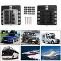8 Way Circuit Standard ATC ATO Fuse Box For Car Boat Marine Bus Van Waterproof