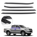 Weatherstrip 4 Door Rubber Seal For Toyota Hilux SR5 VIGO MK6 PICKUP 2005-2015 Black