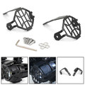 Stainless Steel Headlight Guard Protector Grill Cover For BMW R1200GS R1250GS 13-on F800GS 12-on ADV Black